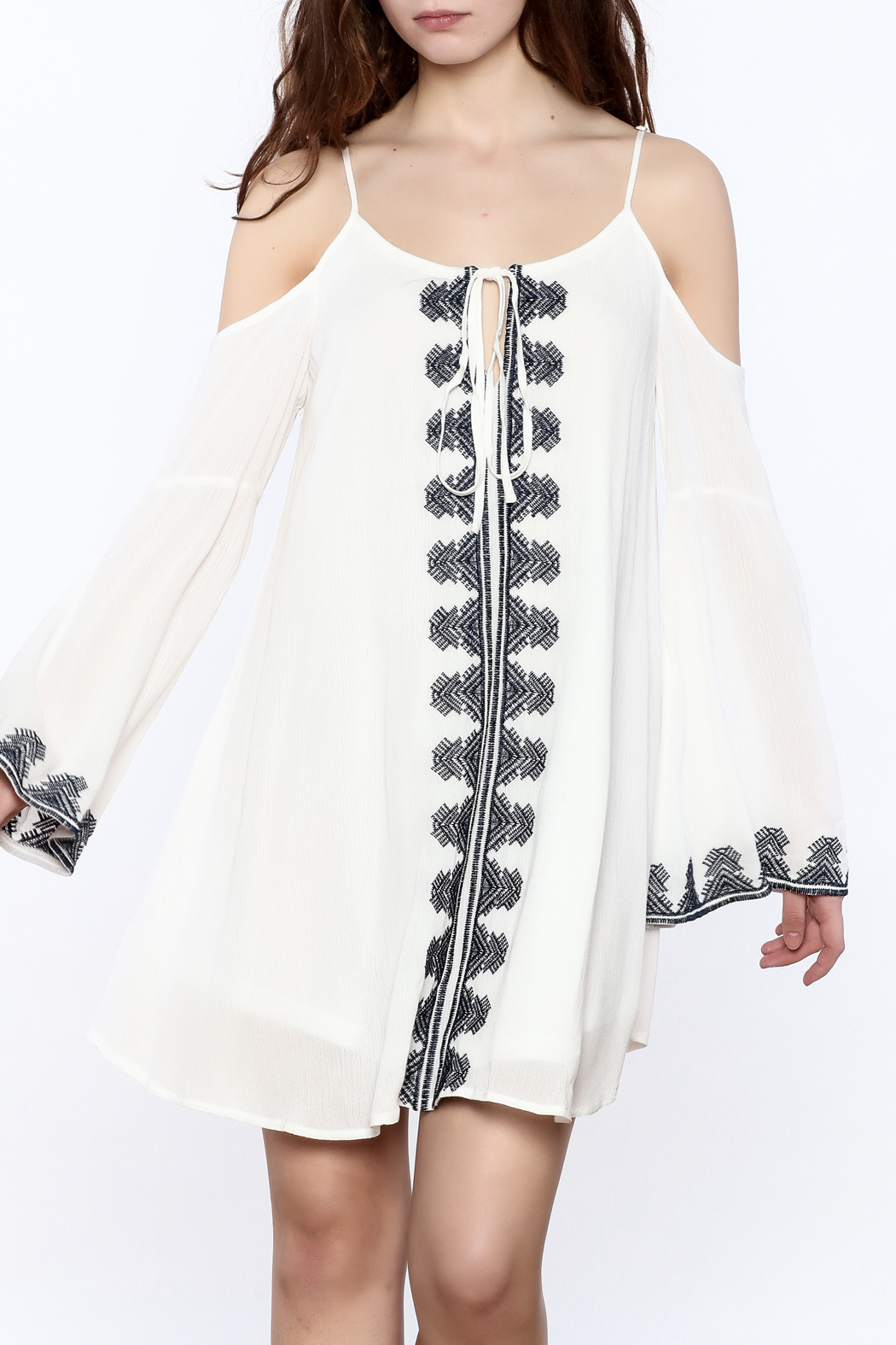 Very J Embroidered Loose Dress - Main Image