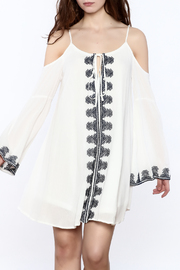 Very J Embroidered Loose Dress - Product Mini Image