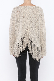 Shoptiques Product: Fringe Hem Sweater - Back cropped