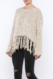 Shoptiques Product: Fringe Hem Sweater - Front cropped