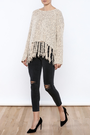 Shoptiques Product: Fringe Hem Sweater - Front full body