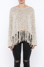 Shoptiques Product: Fringe Hem Sweater - Side cropped