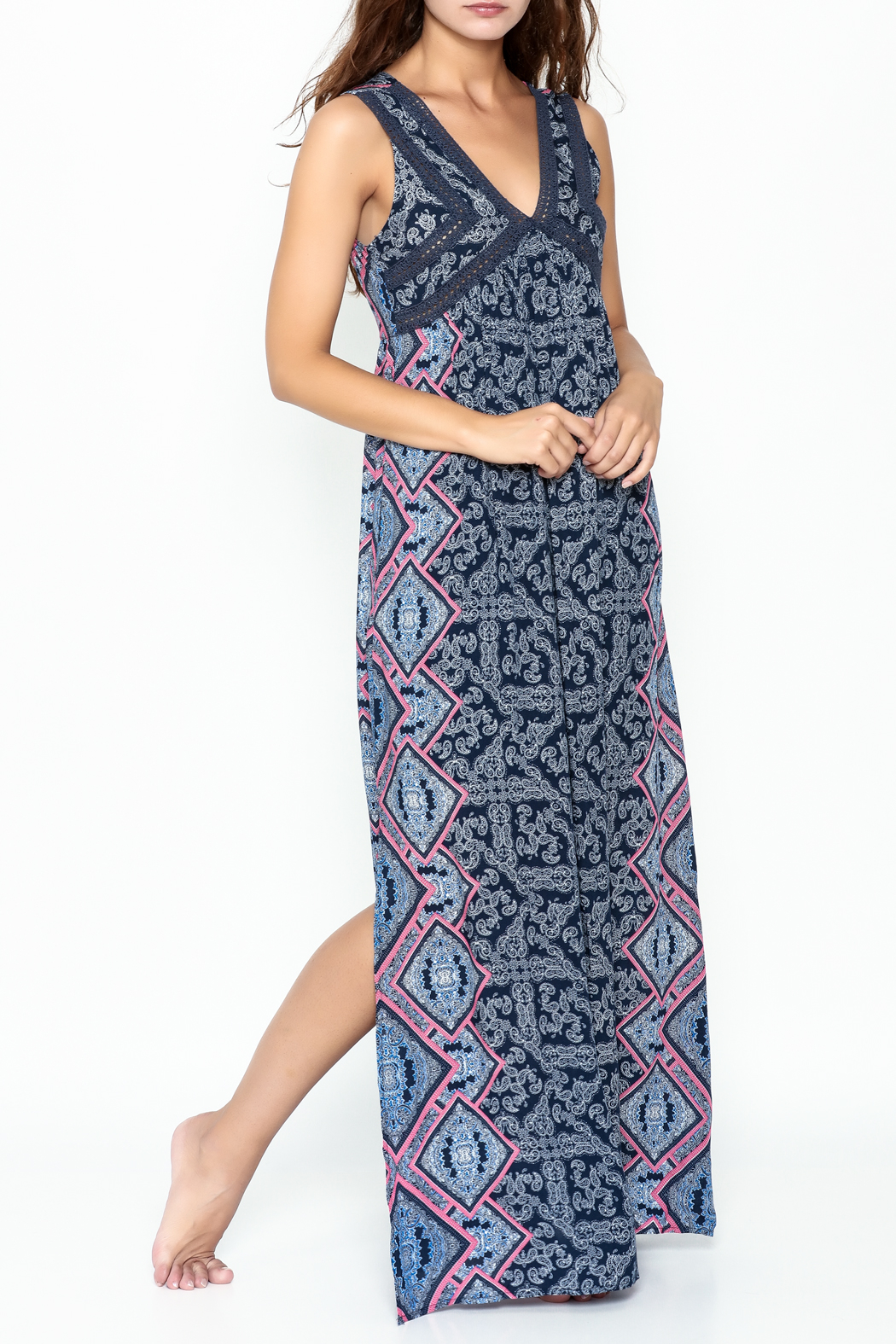Very J Indika Summer Dress - Front Cropped Image