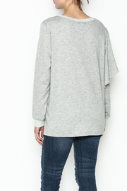 Very J Lightweight Cotton Sweater - Back cropped