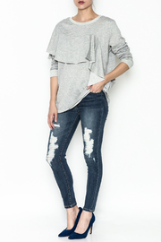 Very J Lightweight Cotton Sweater - Side cropped