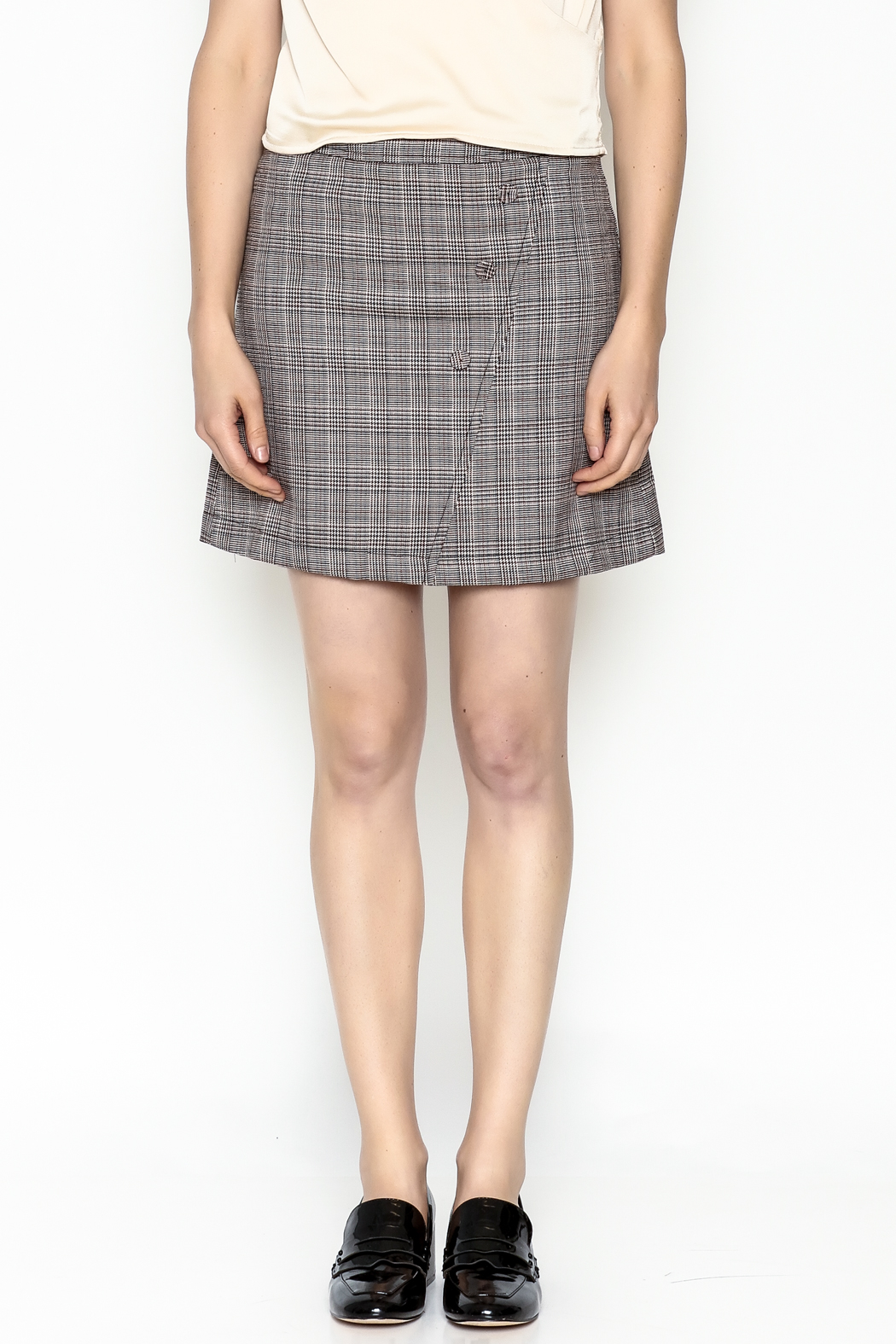 Very J Plaid Skirt - Front Full Image