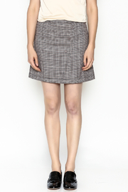 Very J Plaid Skirt - Front full body