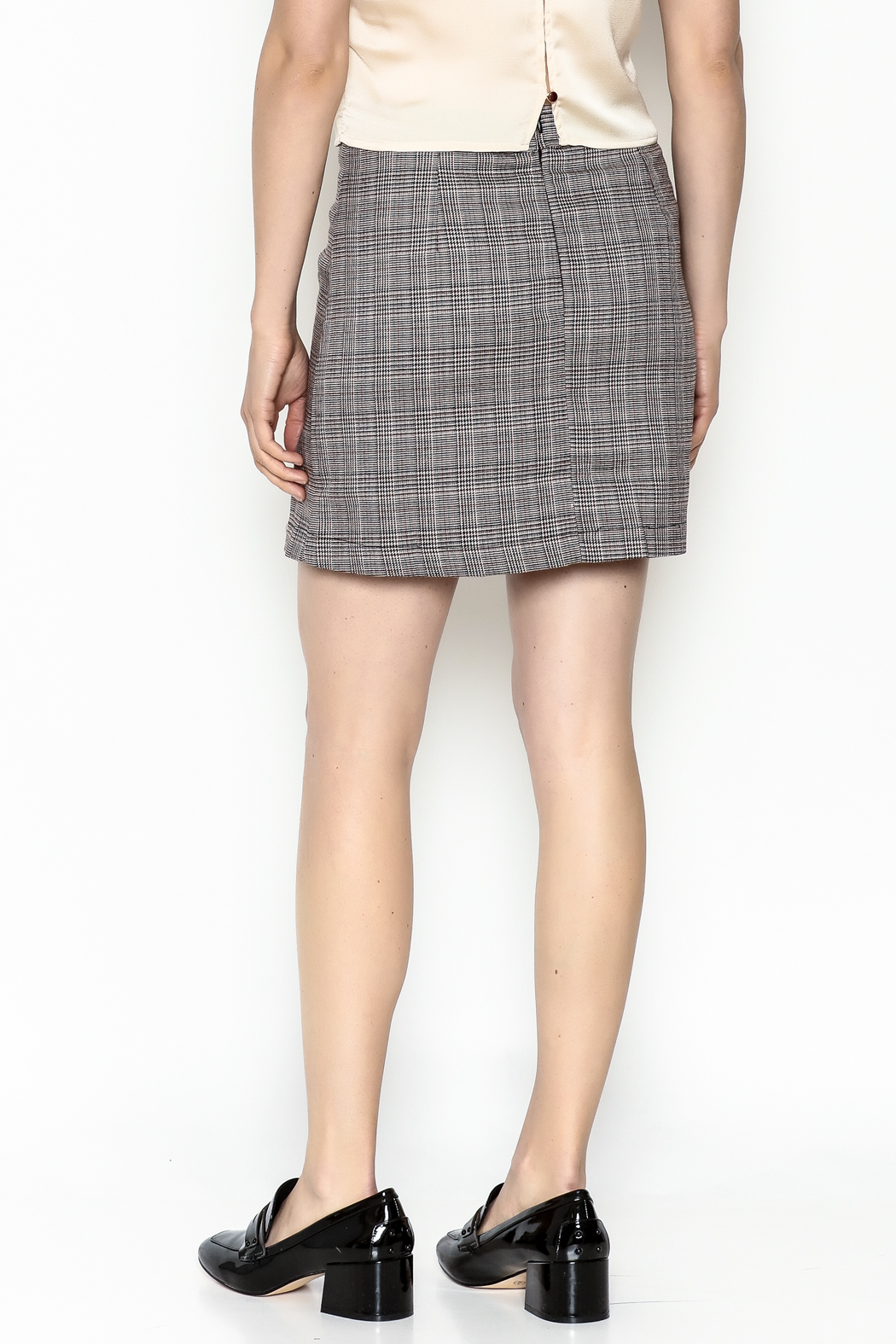 Very J Plaid Skirt - Back Cropped Image