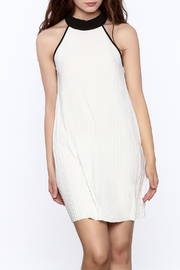 Very J Pleated Halter Dress - Product Mini Image