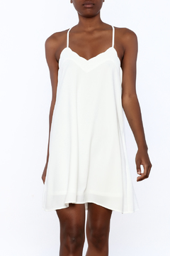 Shoptiques Product: White Scallop Dress