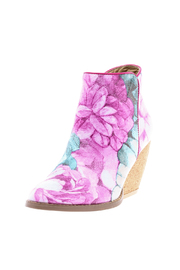 Very Volatile Floral Bootie - Back cropped