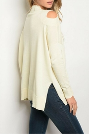 Very J Asymetrical Ivory Top - Front full body