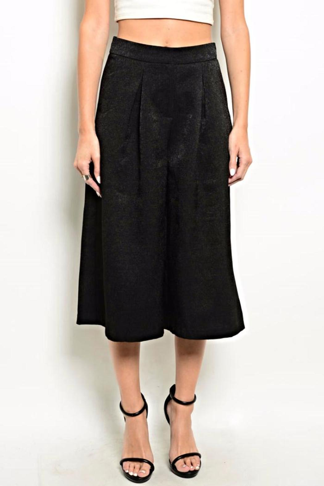 Very J Black Culotte Pants - Main Image