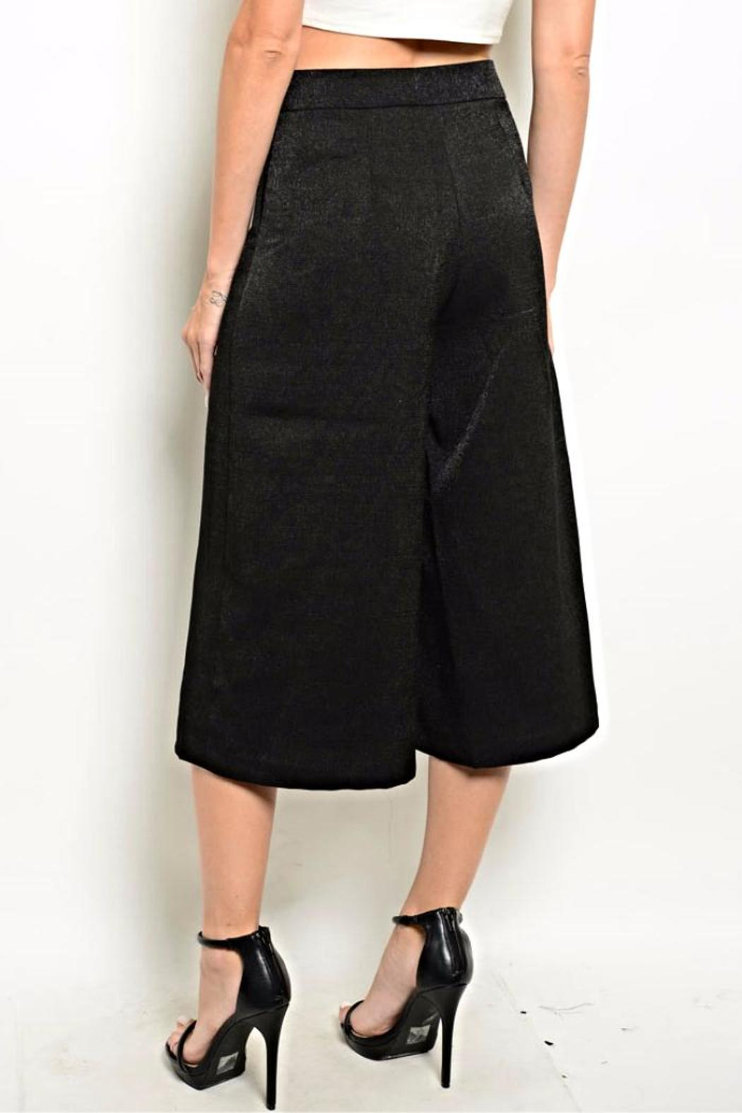 Very J Black Culotte Pants - Front Full Image