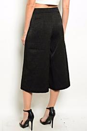 Very J Black Culotte Pants - Front full body