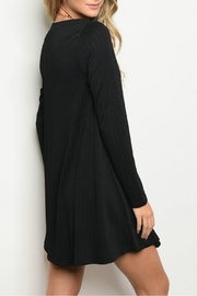 Very J Black Detailed Dress - Front full body