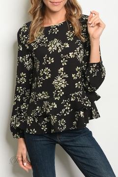 b4b986995 ... Very J Black Floral Top - Product List Image