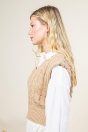 Very J Cable Knit Cropped Sweater Vest - Other