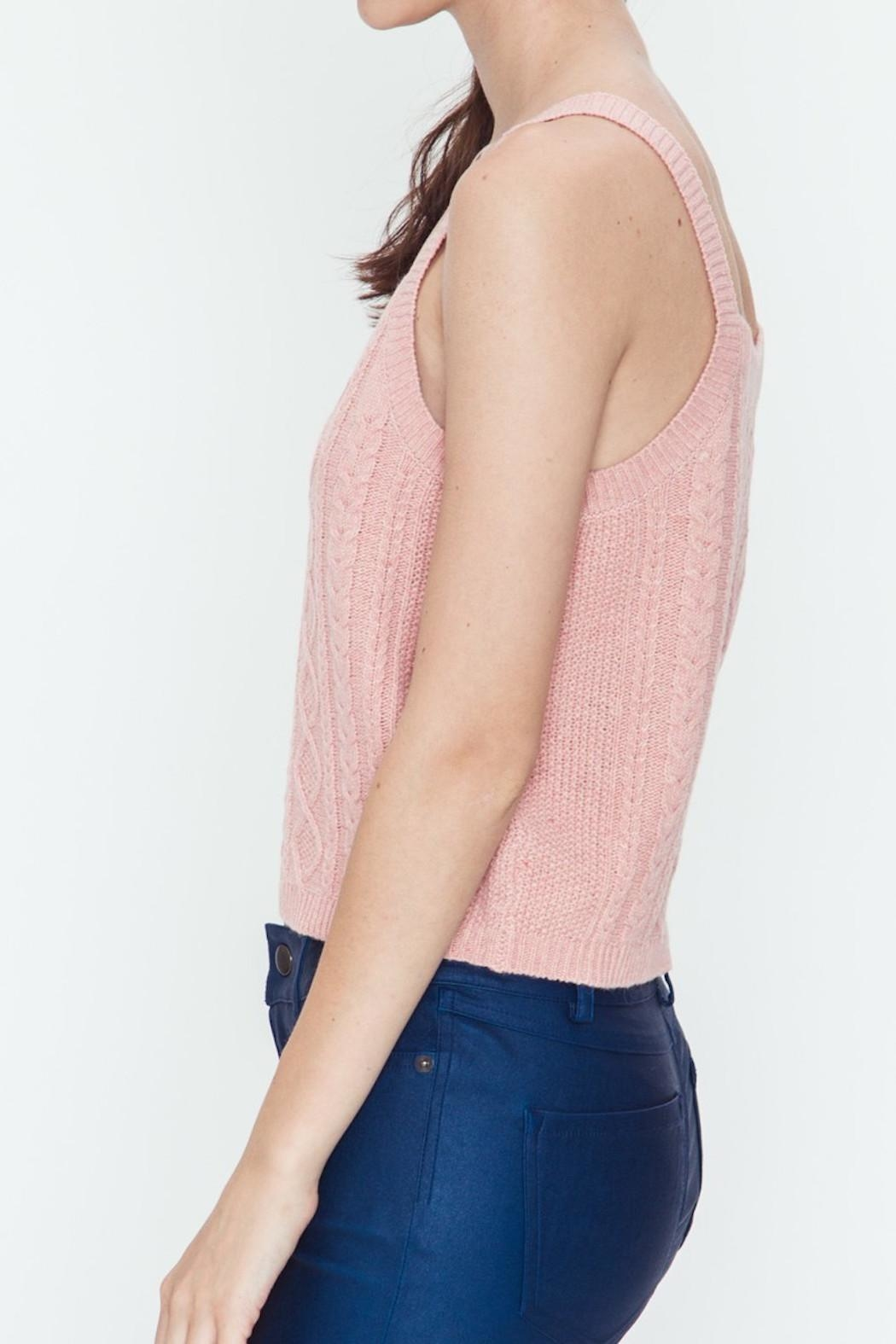 Very J Cable Sweater Tank - Front Full Image