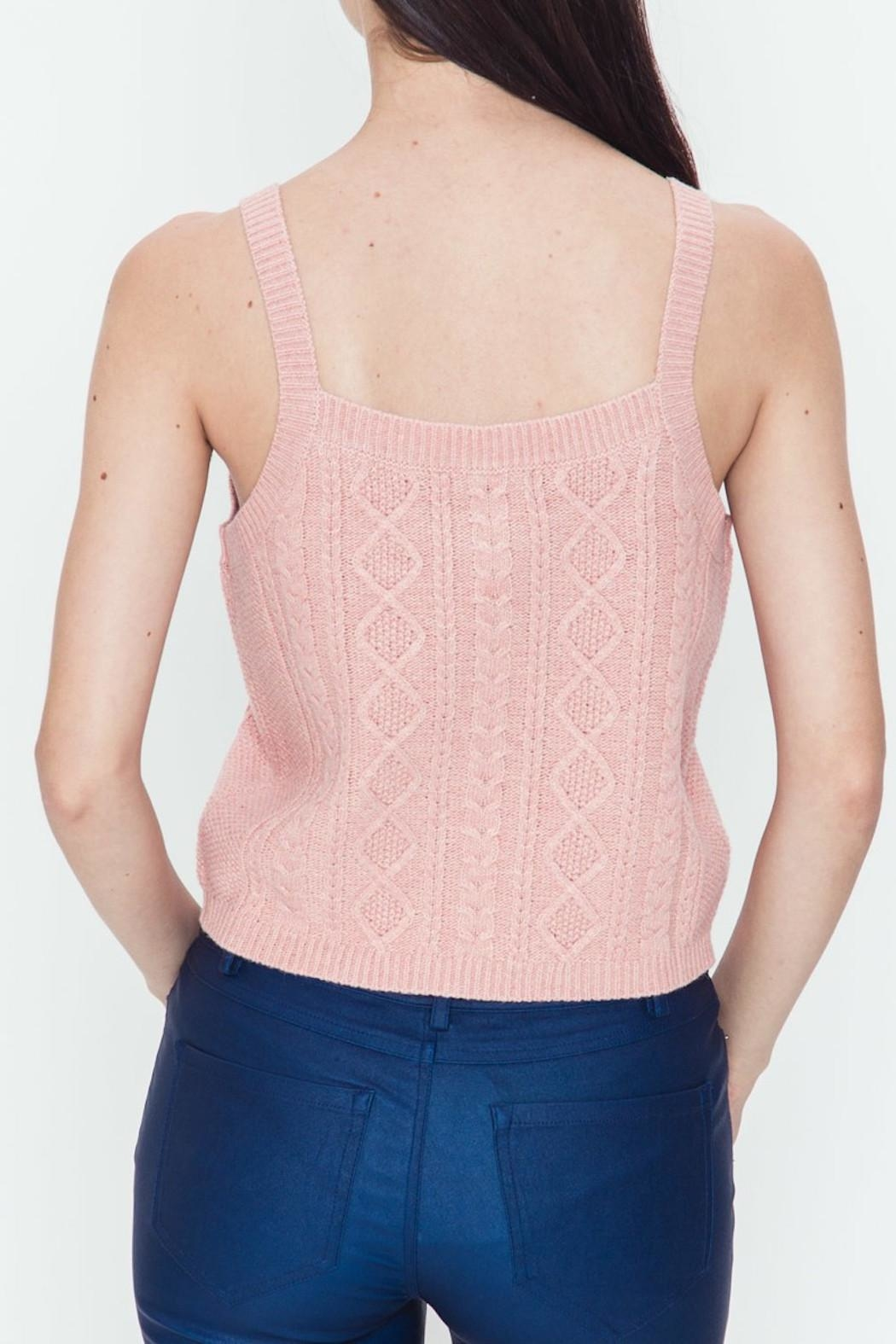 Very J Cable Sweater Tank - Side Cropped Image