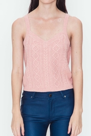 Very J Cable Sweater Tank - Product Mini Image