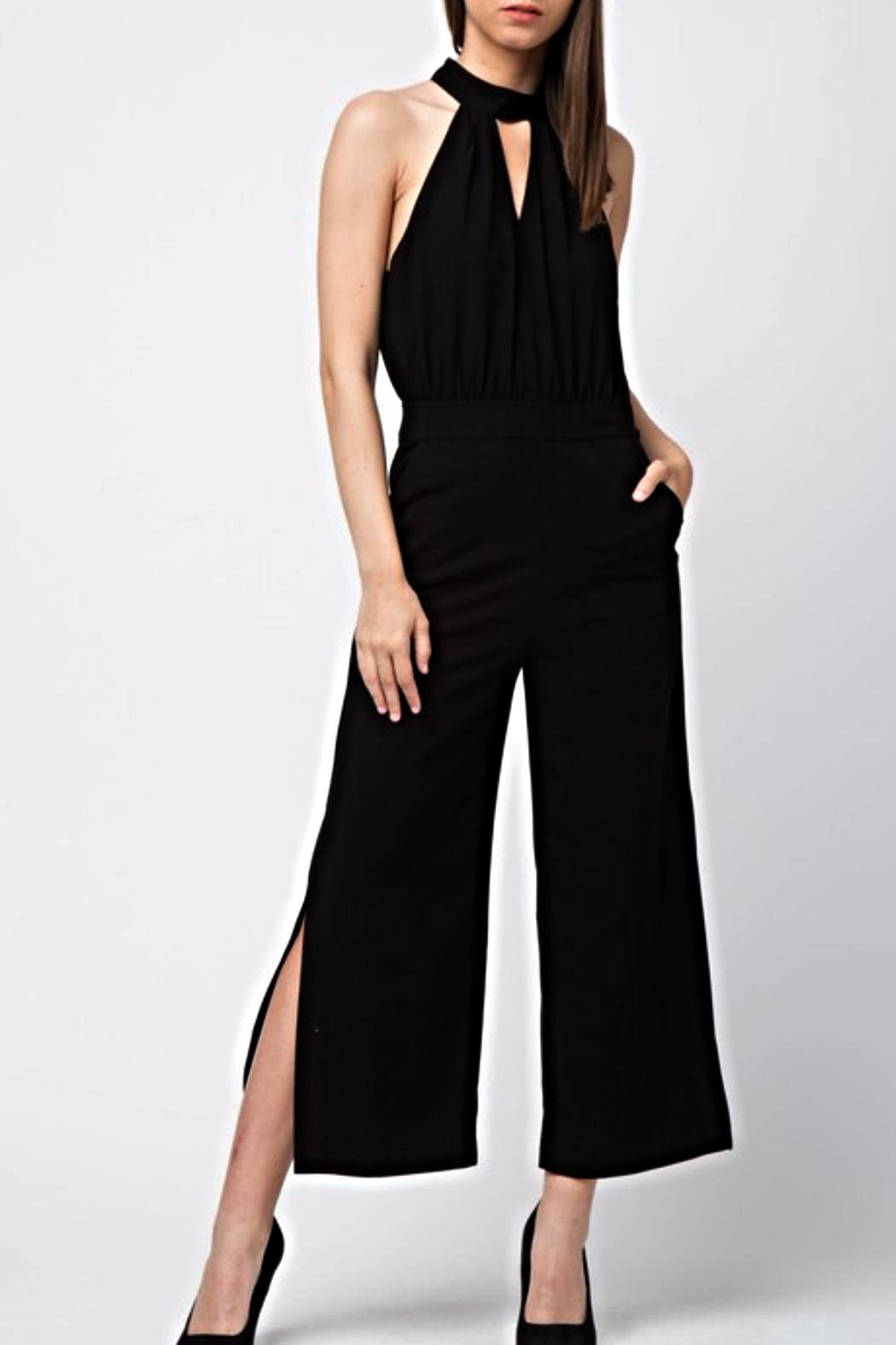 Very J Capri Pant Romper - Front Cropped Image