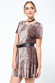 Very J Crushed Velvet Dress - Product Mini Image