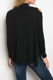 Very J Cutout Shoulder Sweater - Front full body