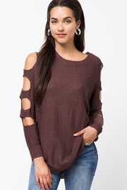 Very J Cutout Sleeve Top - Product Mini Image