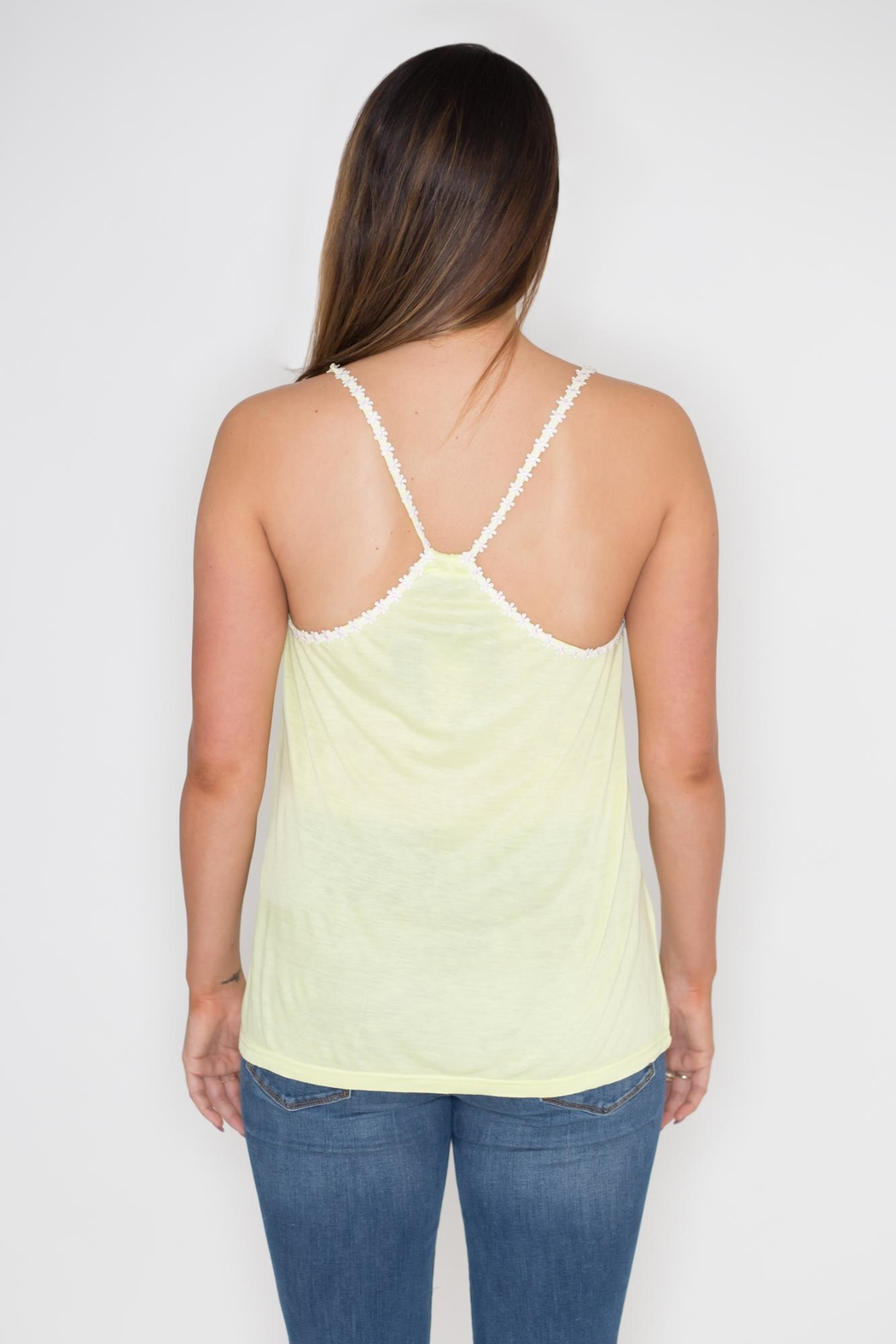 Very J Daisy Trim Tank Top - Side Cropped Image