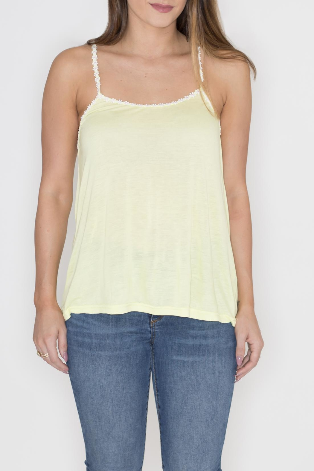 Very J Daisy Trim Tank Top - Main Image