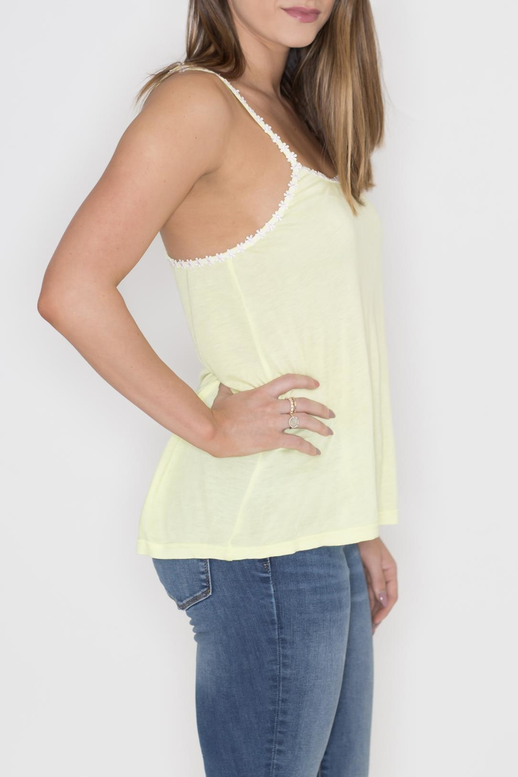 Very J Daisy Trim Tank Top - Front Full Image