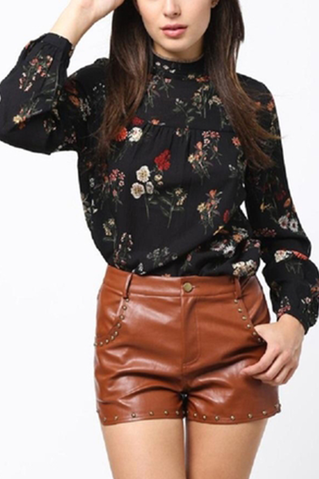 Very J Floral Long Sleeve Top - Main Image