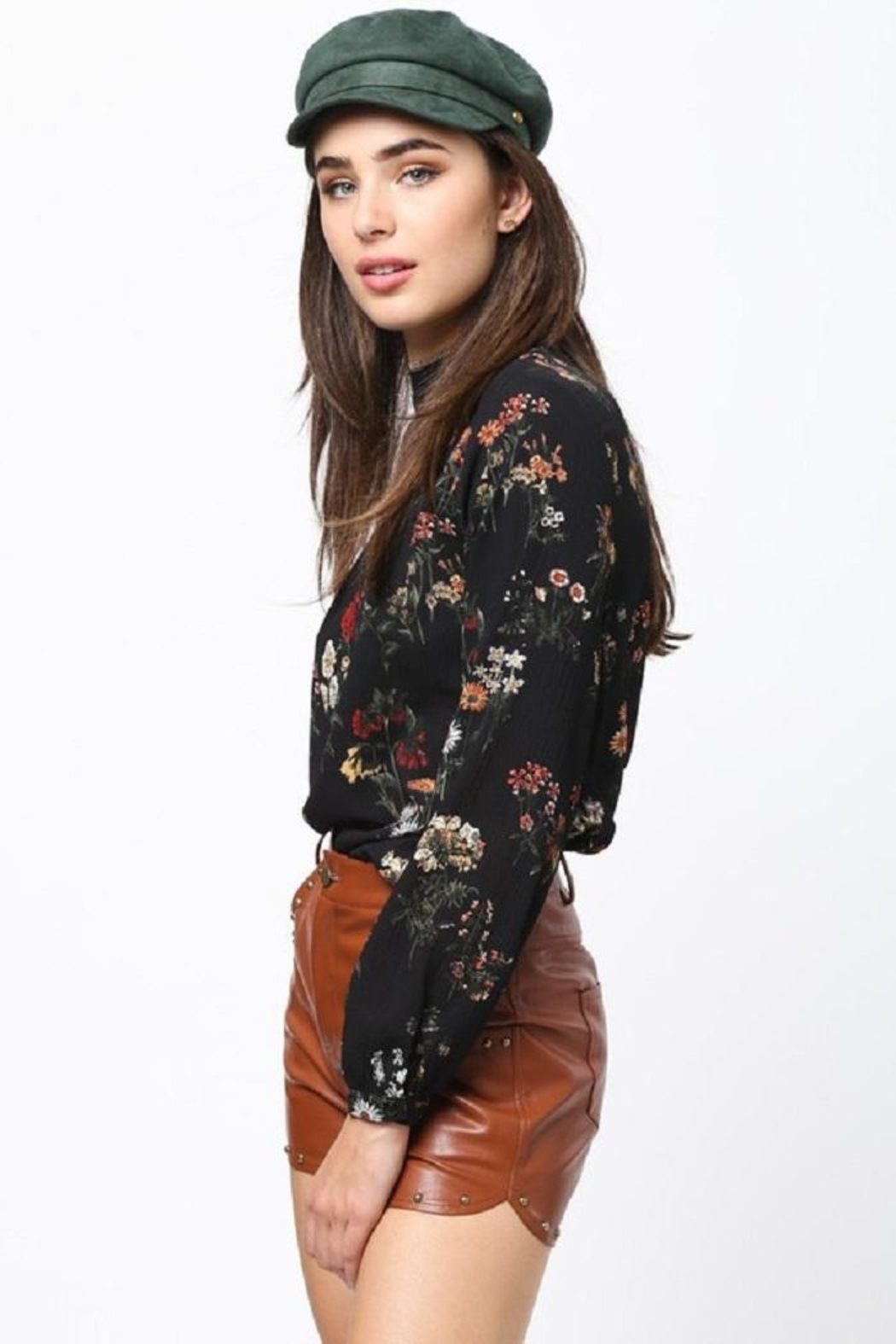 Very J Floral Long Sleeve Top - Back Cropped Image