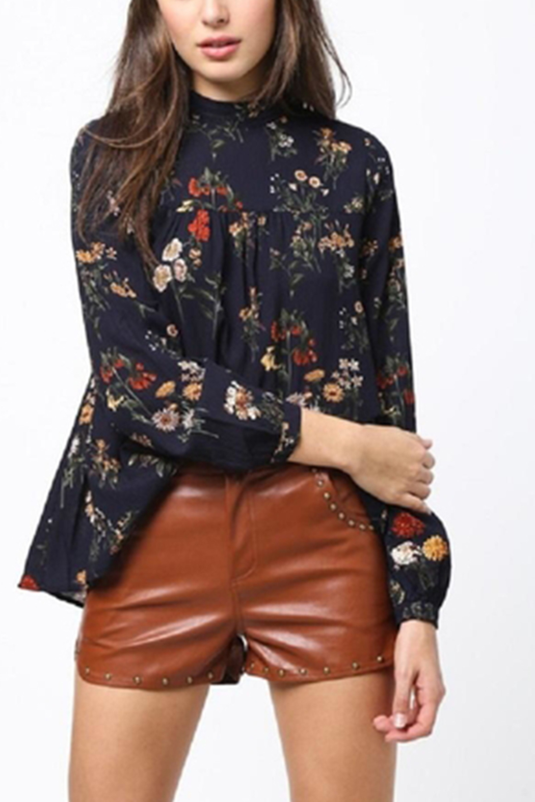 Very J Floral Long Sleeve Top - Front Full Image