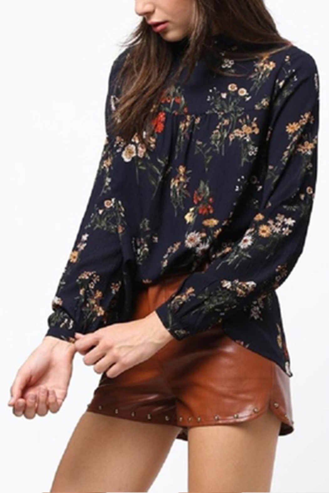 Very J Floral Long Sleeve Top - Side Cropped Image