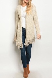 Very J Frayed Hem Cardigan - Product Mini Image