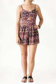Very J Geometric Print Romper - Product Mini Image
