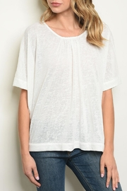 Very J Ivory Dolman Tunic - Front cropped