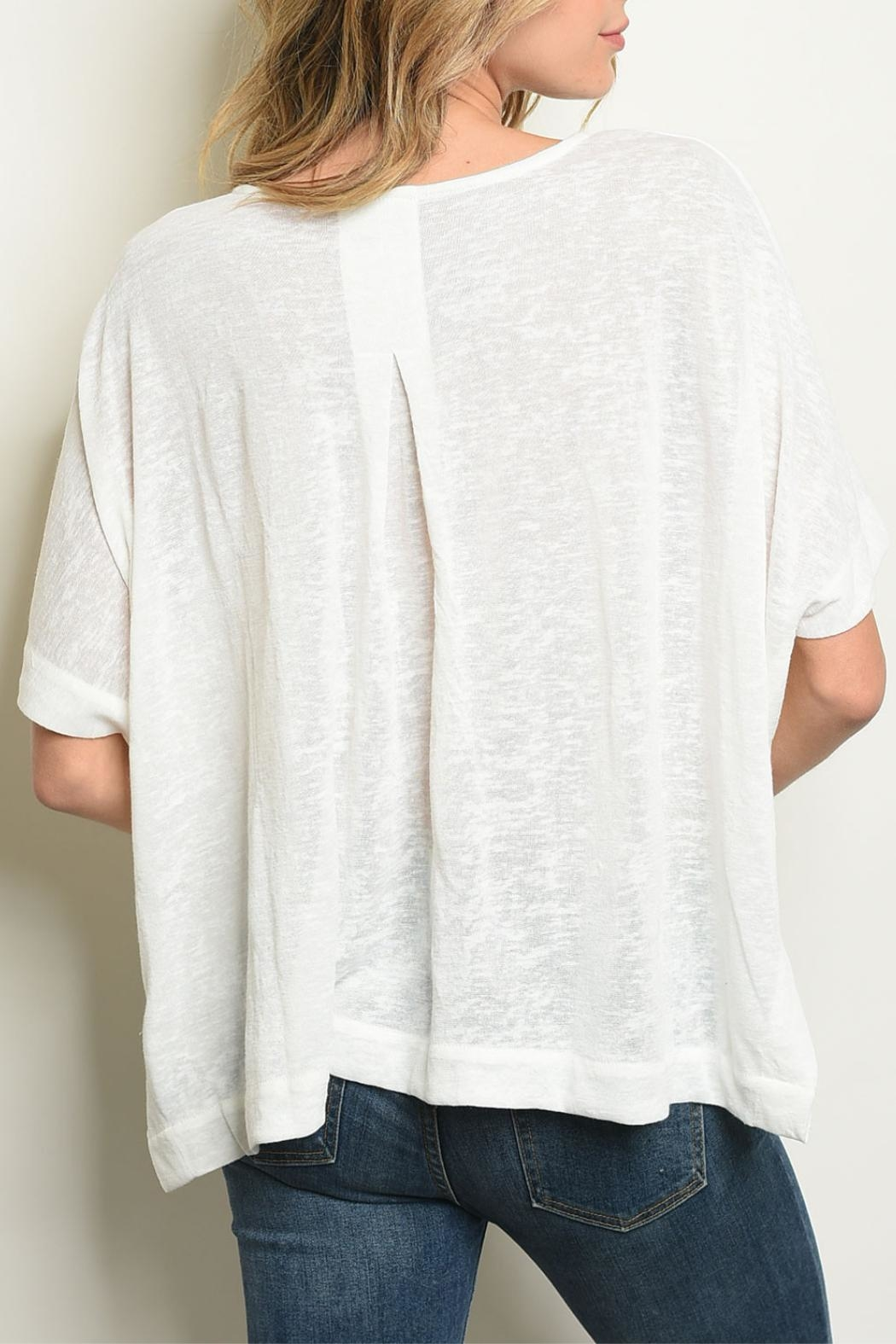 Very J Ivory Dolman Tunic - Front Full Image