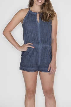 Shoptiques Product: Keyhole Denim Romper