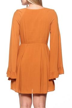 Shoptiques Product: Mustard Bell Sleeve Dress