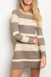 Very J Mustard Stripe Dress - Product Mini Image