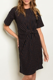 Very J Navy Striped Dress - Product Mini Image