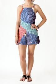 Very J Patchwork Print Romper - Product Mini Image