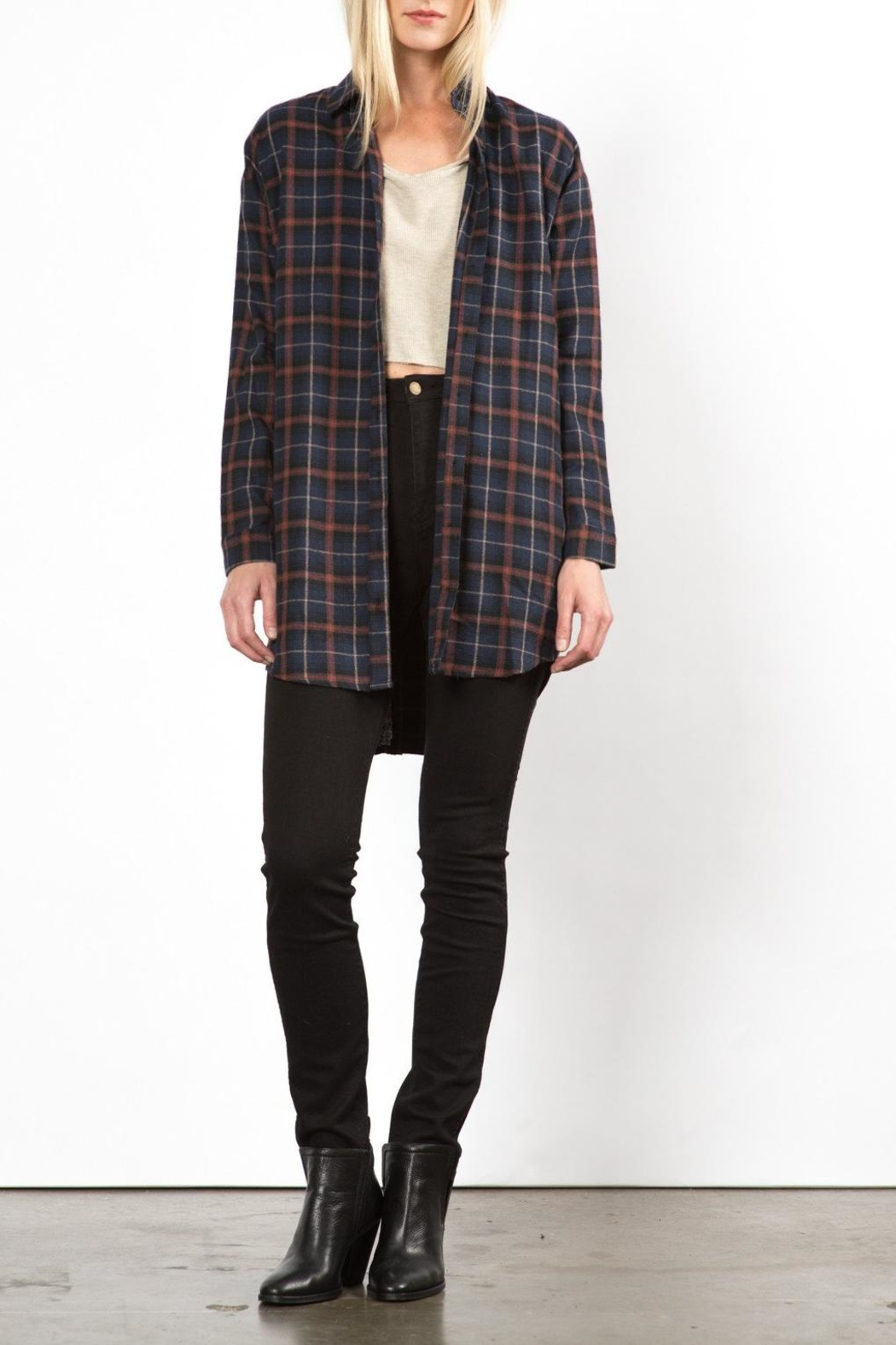 Very J Phoenix Plaid Top - Main Image