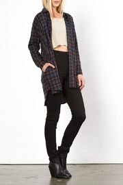 Very J Phoenix Plaid Top - Side cropped