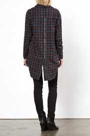 Very J Phoenix Plaid Top - Back cropped