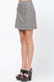 Very J Plaid A-Line Skirt - Front full body