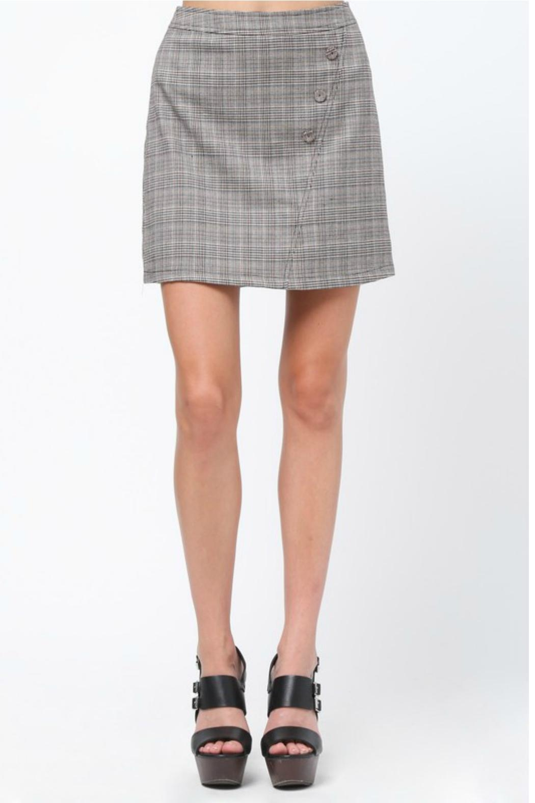 Very J Plaid A-Line Skirt - Front Cropped Image